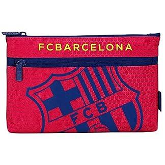 Futbol Club Barcelona- Estuche portatodo Grande 2 Cremalleras (SAFTA 811572033)