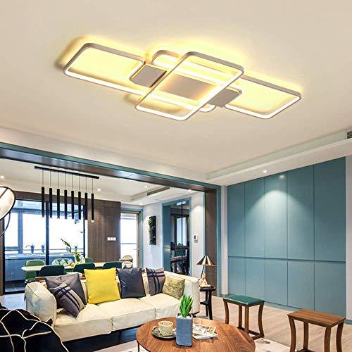 Addison 90W LED Deckenleuchte Moderne Deckenlampe dimmbar mit Fernbedienung Wohnzimmerlampe Kinderzimmer Lampe Esszimmerlampe Schlafzimmerlampe Flurlampe Acryl-Schirm weiß lackierte Metallrahmen - 90w Led