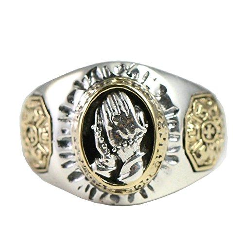 Ringe Damen Modeschmuck Silberringe Boho Silber Ring Aus 925 Silbernen Gebetshänden Für Herrenfür Herren Gr. 56 (17.8) (Jugendstil-planer)