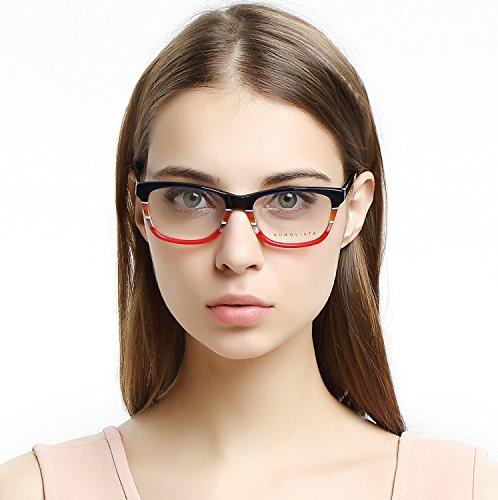 OCCI CHIARI Damen Brillengestell Optische Gläser violett Medium Optische Brillen Rahmen...