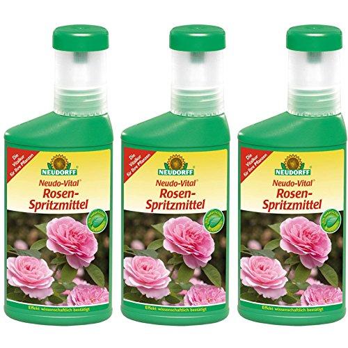 3 x 250 ml Neudorff Neudo-Vital Rosen-Spritzmittel
