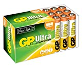 GP Batteries Ultra High Performance Alkaline AAA Battery - Chrome/Black/Red (Pack of 24)