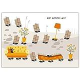 10 lustige Umzugskarten/ Anzeigen (10er Set): mit lauter kleinen fleißigen Ameisen: Wir ziehen um!