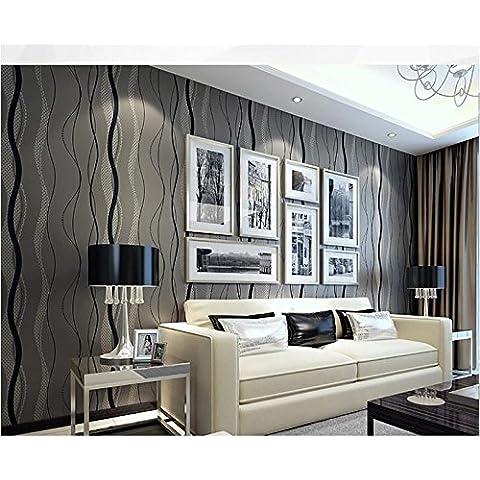 Papel pintado Bandas estéreos de papel pintado no tejido dormitorio TV fondos de pantalla fondos de pantalla wallpaper , 750305 black grey