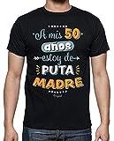 latostadora - Camiseta A Mis 50 Años Estoy de para Hombre Negro XXL