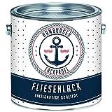 Fliesenlack GLÄNZEND Anthrazitgrau RAL 7016 Grau Fliesenfarbe im SET // Hamburger Lack-Profi (1 kg)