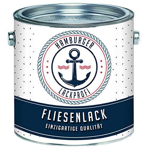 Fliesenlack GLÄNZEND Graublau RAL 5008 Blau Fliesenfarbe im SET // Hamburger Lack-Profi (1 kg)