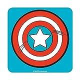 Posavasos con escudo del Capitán América