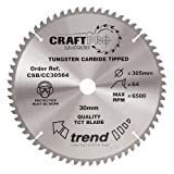 Trend CSB/CC30564 305 x 30 mm 64 Teeth CraftPro Crosscut Saw Blade