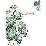 OHQ Wandtattoo Pflanze Tropische Verlässt Wandsticker Groß Blätter Grüne Wandaufkleber Wohnzimmer Schlafzimmer Flur Wanddeko
