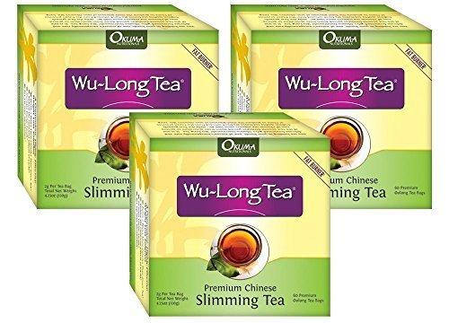 Premium Chinese Abnehmen WuLong Tee – All-Natural Gewichtsverlust, Diät, Detox und Anti-Akne-Oolong-Tee – Pure WuYi Oolong – 3 Monate Versorgung mit 180 Teebeutel