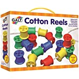 Galt Toys Cotton Reels Set - Assorted Colours, Pack of 20
