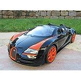 """RC Bugatti Grand Sport Vitesse 1:14 Schwarz 2,4 GHz 30cm """"Top Qualität"""""""