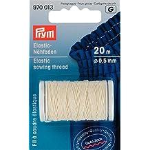 Prym-elastico 0,5 mm x 20 m, filo da cucito, colore bianco naturale