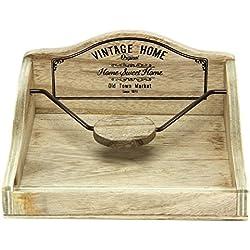 Sostenedor de la servilleta de madera vintage