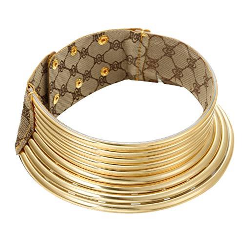UINGKID Kette Damen Halskette Schmuck Anhänger Ausverkauf Afrikanischer nationaler Flamboyant-justierbarer Persönlichkeit-kreativer Art-großer Kragen
