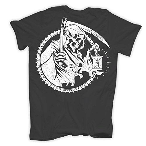 Männer und Herren T-Shirt Treue duldet keinen Verrat (mit Rückendruck) Körperbetont grau