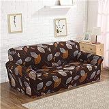 Fiesta Geometic Blumendruck Stretch Spandex Hussen Sofabezug Abnehmbare elastische All-Inclusive-Couchabdeckung für Wohnzimmer: 1, Zweisitzer
