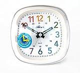 Kinderwecker ohne Ticken Mädchen Jungen Weiß + Armbanduhr - Atlanta 1736-0 KAU ws von Atlanta
