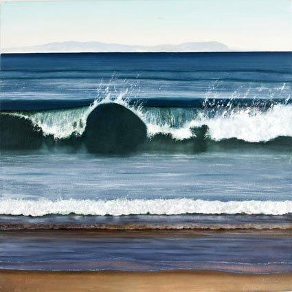 West Coast Wave art Carte Paysage terrestre ou marin Par