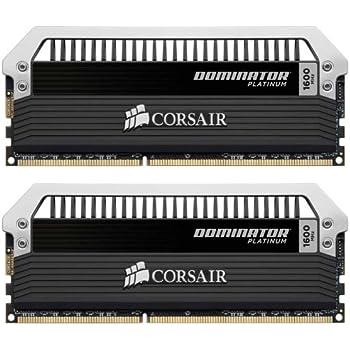 Corsair Dominator Platinum - Módulo de memoria RAM de 16 GB (2 x 8 GB, DDR3, 1600 MHz, CL9) (CMD16GX3M2A1600C9)