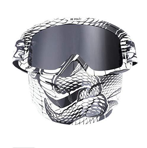 Adisaer Fahrradbrille Für Brillenträger Retro Gesichtsmaske Schutzbrillen Motocross Rennschutzbrillen Im Freien Reitbrille Fahren A04-Gray Damen Herren