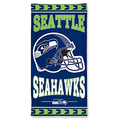 Offizielles NFL 'Seattle Seahawks' Strandhandtuch, Badetuch in 150x75 cm