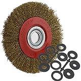 Drahtbürsten Schleifbürsten 200mm für Einhand Winkelschleifer Stahldraht, ideal zum Entrosten