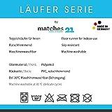 matches21 Küchenläufer Teppichläufer Teppich Läufer Gänseblümchen & Herzen auf Holz 50x120x0,4 cm maschinenwaschbar - 2