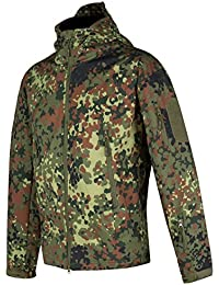 ACE+ Tactical Softshell Jacket | Chaqueta Tactica Militar para Hombre | Para Airsoft & Paintball | Army Style | Camouflage