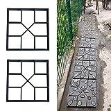 FROADP 2 Stück/Set DIY Schalungsform Betonpflaster Gießform Unregelmäßig Muster für Gehwegen Trittsteinen Garten(2 Stück/Set, Quadrat B - 8 Kammer)