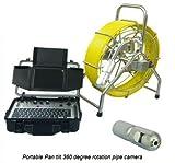 Mabelstar Batteriebetriebene 360 drehbare Schubstange, Video-Abwasserrohr-Inspektionskamera, 120 m Länge