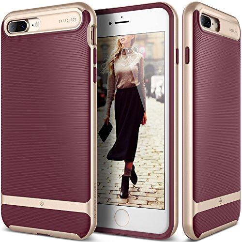 Caseology Wavelength Funda para teléfono móvil Cereza, Oro - Fundas para teléfonos móviles (Funda, Apple, iPhone 7 Plus, Cereza, Oro)