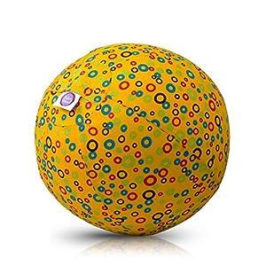 BUBABLOON BB de 17704Bubbles (Yellow)-Globo móvil, Amarillo con Círculos de Colores, 30cm Diámetro