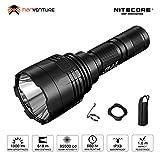 LED Taschenlampe Extrem Hell - Nitecore P30 1000 Lumen 618m IPX8 Wasserdicht 8 Modi Kompakte Taktische Taschenlampe ([ Akku NICHT Enthalten ])