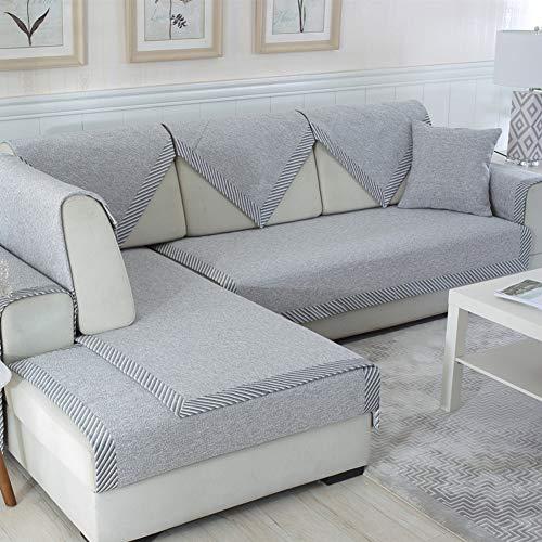 Große Loveseat Abdeckung (Anti-Slip Sofa Schutz Abdeckung Leinen Seasons Sofabezug Moderne Couchbezug Multi-größe Für Sofa,loveseat,Liege,Stuhl-e 28x71inch(70x180cm))