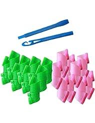 40 Stück Lockenwickler,Magic Frisur Bendy Haar Lockenwickler Spiral Curls DIY Werkzeug für schöne und natürliche Locken
