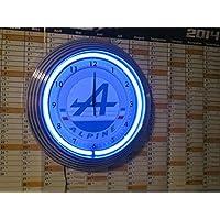 Neon orologio Renault Alpine Garage Sign Orologio da parete USA 50'S Style–Neon colore blu