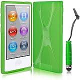 Kolay® iPod Nano 7G Hülle Case Silikon Schutzhülle in Grün + Mini Stylus (Eingabestift) für den neuen Apple iPod Nano 7G (7. Generation 16GB)