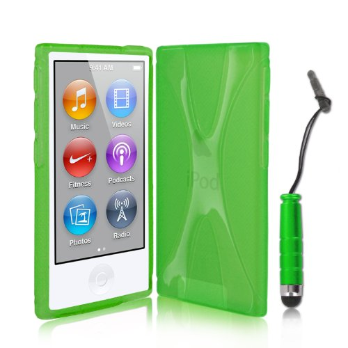 kolay ipod nano 7g h lle case silikon schutzh lle in gr n. Black Bedroom Furniture Sets. Home Design Ideas