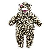 Vine Baby Schneeanzug Overall aus Fleece Strampler Neu geboren Unisex Schlafanzug Samt Baumwolle Fleeceanzug Footed Schneeanzug Winter Jumpsuit, 0-3Monate
