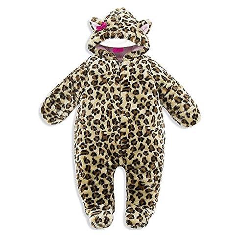 GudeHome Unisexe combinaison bébé Combinaison À capuche Manches longues Mixte bébé One-Piece chaud épaisse siamois Manteau pour Baby Style Garçon Fille Toddler Enfants Animaux Automne Hiver