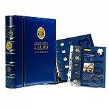 Leuchtturm 354470 2-Euro-Optima-Vordruckalbum | Münzalbum für die Deutschen 2 Euro Gedenkmünzen | Band 2: Nachträge für Prägungen von 2014-2017| blau