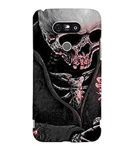 Printvisa Premium Back Cover Skeleton Wearing A Coat In Moonlight Design For LG G5::LG G5 Dual H860N with dual-SIM card slots