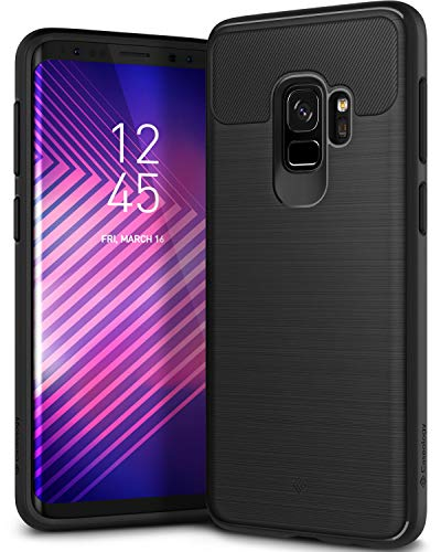 Caseology Vault Series Case Designed for Galaxy S9 with Thin Non-Bulky Coverage and Shock Absorbent Drop Protection for Samsung Galaxy S9 (2018) - Black Cellular Glass Mount