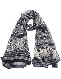 Ladies Scarf Sonnena Fashion Ladies Neck Stole Elephant Print Long Scarf Shawl Wrap