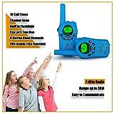 Debonice Walkie Talkies walki talki kinder und Outdoor-Reisen LC-Display VOX 8 Kanäle Taschenlampe Funkgerät 2er-Set (Blau) Test