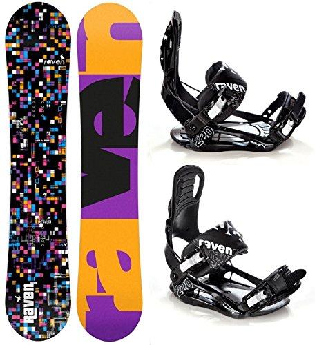 Snowboard Set: Snowboard Raven Grid Black + Bindung Raven S220 Black S