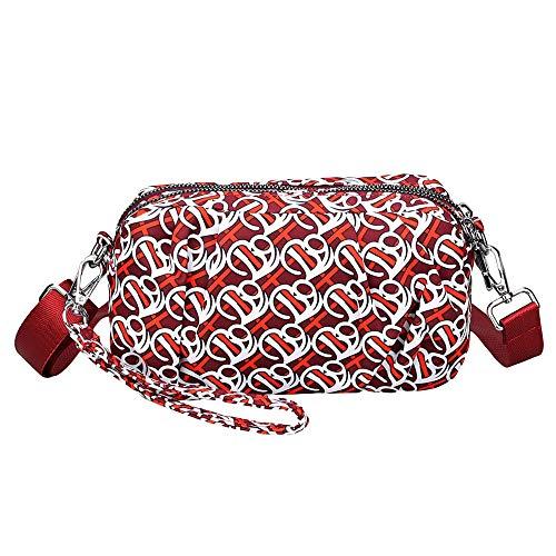 TIFIY Damen Rucksack Damenmode Nylon wasserdichte Schulter Messenger Crossbody Druck Taschen Arbeits Täglich Bankett Elegant Tasche(Mehrfarbig)