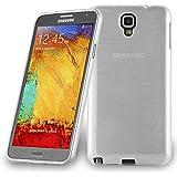 Cadorabo - Samsung Galaxy NOTE 3 NEO (N7505) Cubierta protectora de silicona TPU Diseño ACERO FINO CEPILLARSE (brushed) - Case Cover Funda Carcasa Protección en PLATA